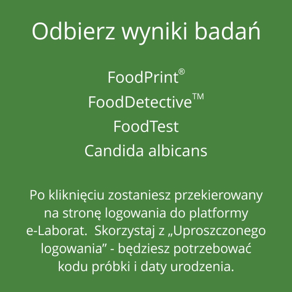 Odbierz-wyniki-badan-FoodPrint-FoodDetective-FoodTest-Candida-albicans-pacjent